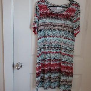 Calvin Klein Decorative Short Sleeve Midi Dress